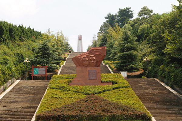 郴州爱国主义主题公园大门台阶.图片来源:郴州湘南起义纪念馆